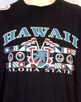 vtg 80s 90s retro Hawaii The Aloha State T-Shirt Tribal Sun indie punk SZ XL