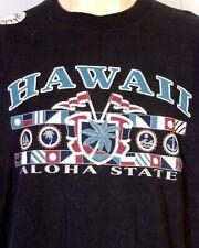 vtg 80s 90s retro Hawaii The Aloha State T-Shirt Tribal Sun indie punk SZ XL