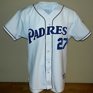 2003 Rondell White Game Worn San Diego Padres Home Jersey #27 - Size 50
