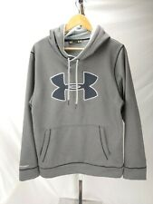 Mens Under Armour Storm 1 Loose Gray Workout Hoodie Sweat Shirt Size Small S Euc