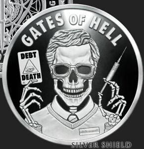 1 oz silver proof Gates Of Hell .999 Pure Fine COA BOX SSG Silver Shield Limited