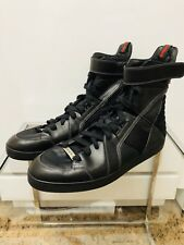 Gucci Leather/Nylon High Top Sneakers