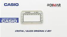 VINTAGE GLASS CASIO C-801 BLANCO NOS