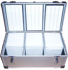 1 x 630 DJ Aluminium CD DVD Disc Storage Flight Carry Case Box with Sleeves