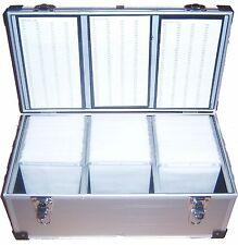 1 x 630 ALLUMINIO DJ CD DVD Disco volo Carry Case Box con maniche
