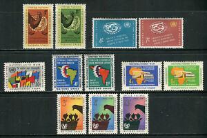 UN-New York # 88-99, 1961 Annual Set, Unused Hinged