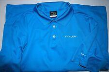 Nike Men's XL Golf Polo Shirt Dri Fit Blue short sleeve