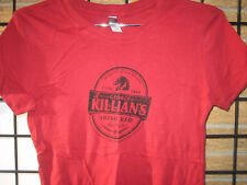 (M) New Ladies KILLIAN'S Irish RED Beer T Shirt Top womens Juniors Bartender