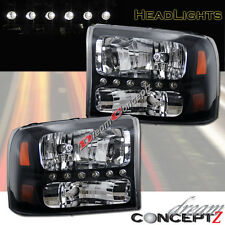 99-04 Ford F250 F350-SuperDuty Exursion Headlights + Corner 1 PCS Style w/ LED