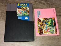 Bump 'n' Jump w/Manual & Sleeve Nintendo Nes Authentic