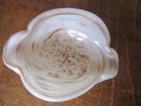 "Murano"" Vintage Aventurine Cased Glass Gold Copper Flecks"