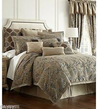 Waterford Arielle Queen 6 Pieces Gold/Charcoal Comforter Set 1st Q NIP