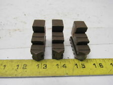 """Self Centering 5"""" Spiral Chuck Hardened Jaws Lot Of 3"""