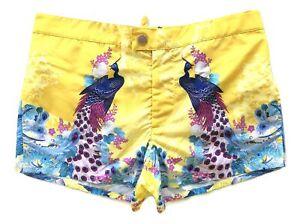 DSQUARED men's swimsuit boxer midi print Peacock Swim 48 D7B6L3360.768