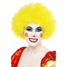 Men's Women's Afro Clown Wigs & Braces Funky Neon Fancy Dress Festival Stag Hen