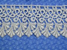 """Venise Lace 4"""" (102mm) Metallic Silver 3 Yards"""