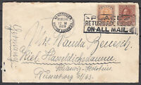 Canada Scott #114 & #149 Cover Feb 28, 1929 Vancouver BC  to Germany