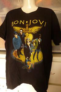 Bon Jovi Size M Black T-Shirt