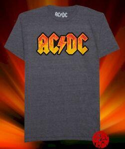 New AC/DC Flames Fire Logo Mens Classic Vintage T-Shirt