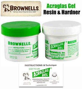 Brownells Acraglas Gel 4oz. Gunsmith Rifle Glass Bedding Resin and Hardener SAVE