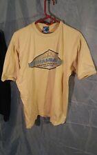 Platinum Fubu Muhammad Ali Gym Men's Graphic T-Shirt Tan sz L 100% Cotton