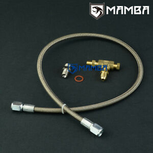 03~ MAZDA RX-8 13B LA-SE3P w/ Greddy Trust T618 TD06-18G turbo oil feed line