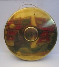 Vintage  Marine Brass GONG - Great Sounding - Nautical / Boat (1035)