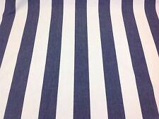 Porter + Piedra Pier Raya (azul Marino) 100% algodón colourwoven Tela Cortina/Tapicería