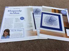Rhapsody In Blue - Blackwork Pattern cross stitch chart Only (223)