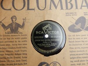 """JAZZ COUNT BASIE & ORCHESTRA RCA VICTOR # 20 2127   10""""  78 RPM RECORD"""