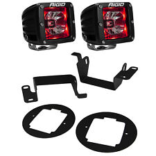 Rigid Radiance LED Fog Light Kit Red Backlight for 14-17 Toyota 4Runner 20202