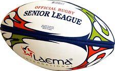 10 X SENIOR LEAGUE NRL Hi-Tech Advance PIN GRIP 4 PLY Rugby League BALL Size 5