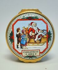 Halcyon Days English Enamels Christmas 1994 Trinket Box