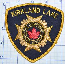 CANADA, KIRKLAND LAKE FIRE DEPT SERVICE D'INCENDIE GOLD EDGE ONTARIO PATCH