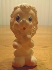 Vintage 1960s Squeaky Toy White Lion Rubber Italy Rubbertoys Squeaker Rare VHTF