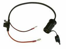 """12V Motorcycle Accessory Power Socket 50cm (20"""") Cable - Blade Fused - Easy Fit"""