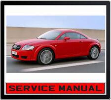 AUDI TT COUPE 1.8L TURBO 3.2L V6 1998-2006 REPAIR SERVICE MANUAL IN DVD