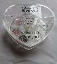 Totally Living Clear Lucite Heart Makeup Cosmetic Organizer Jewelry Storage