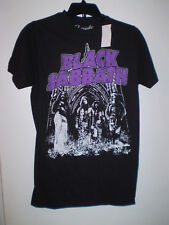 BLACK SABBATH Shirt Short Sleeve ADULT Size S SMALL Black As seen Graphics NEW