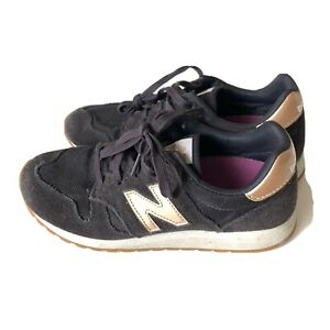 New Balance Women's Pre-Owned 520 WL520J2 Black Gold Running Shoes  Size 9 B