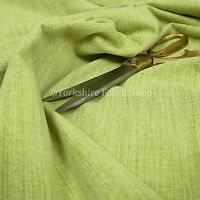 10 Metres Of Soft Faux Wool Finish Green Chenille Fabric Upholstery & Curtains