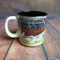 Disney 101 Dalmations Collector Mug Puppys in Barn Black Interior Made in Japan