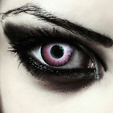Mystical pink colored elf contact lenses for Halloween costume: Pink Elfe