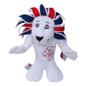 OLYMPICS London 2012 London Pride 35 cm Lion Red Wht Blue Plush Toy Memorabilia