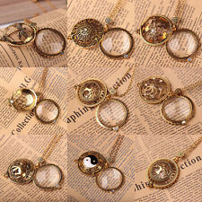 Vogue Chain Magnifying Glass New Necklace Pendant Grandma Gift Tree Owl Flower