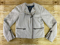 GAP Quilted Chino Moto Jacket Coat Womens Size 6 Biker Zip Up