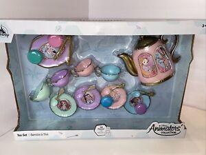 Disney ANIMATORS Collection Princess 19 piece TEA SET Ariel Belle Cinderella
