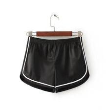 Sexy Women Shorts Casual Satin Short Pants Elastic Waist Sport Yoga Summer Pants