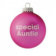 Special Auntie - Pink Christmas Tree Bauble