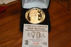 MARK MCGWIRE HIGHLAND MINT 1 TROY OZ .999 FINE SILVER ROUND COIN HR #70